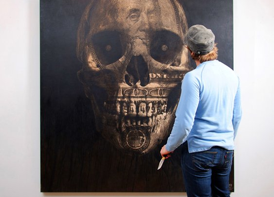 Mark Evans' Leather Art  |  What To Hang In Your Man Cave