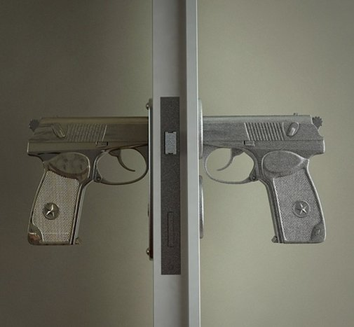 Hand Gun Door Knobs | Headlines & Heroes
