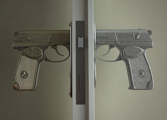 Hand Gun Door Knobs | Headlines & Heroes