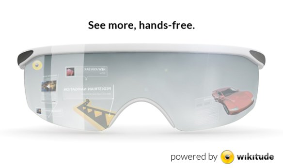 Augmented reality glasses powered by Wikitude