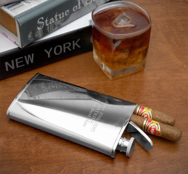 Cigar Flask     Puff, Puff, Nip
