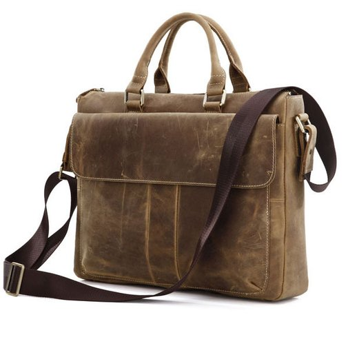 Vintage Messenger Bag - Leather