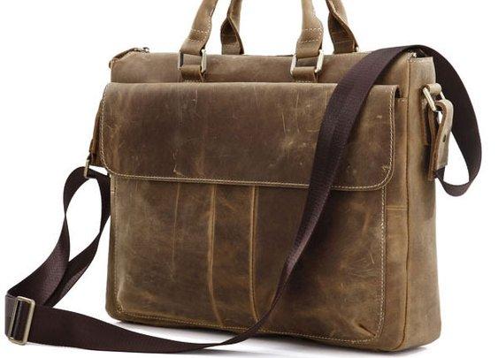 Vintage Messenger Bag - Leather