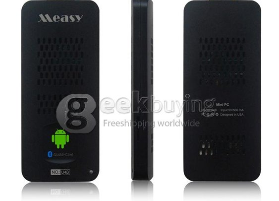 U4B Measy Android 4.2 Mini PC TV Box RK3188 Quad Core 1.6Ghz 2G/8G BT/HDMI Black - GeekBuying.com