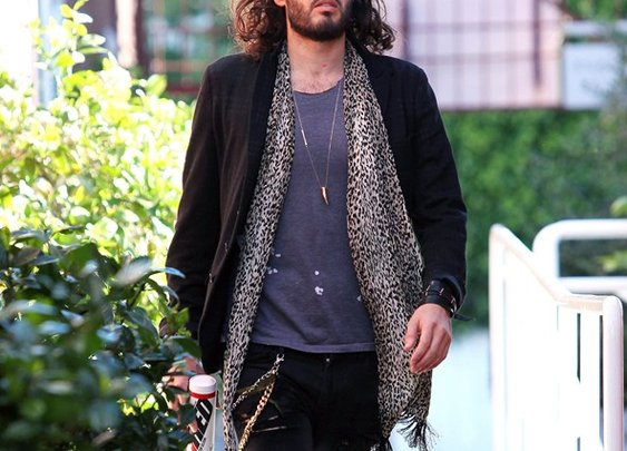 Russell Brand, Leopard lover!