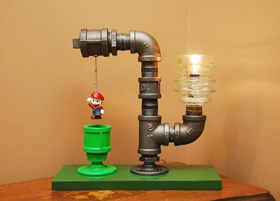Super Mario Bros Themed Lamp