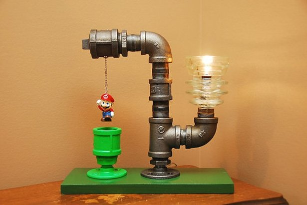 Super Mario Bros Themed Lamp
