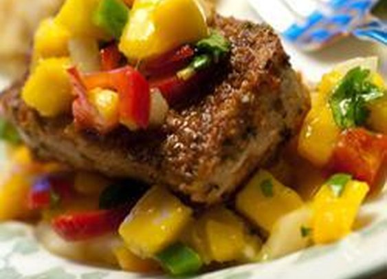 Sweet Grilled Beef with Grilled Mango Salsa