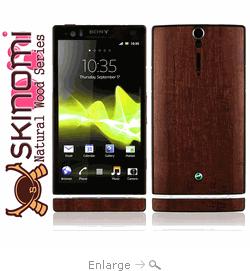Sony  Xperia S - Dark Wood Skin Protector