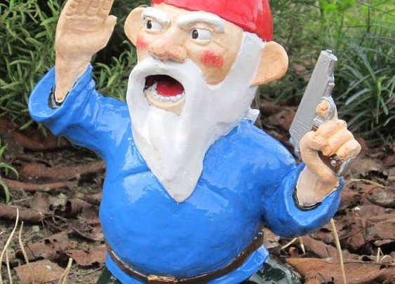 Combat Garden Gnome Officer with Pistol by thorssoli on Etsy