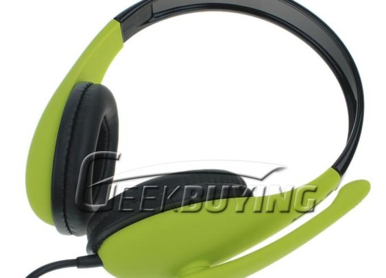 Brand Lenovo P765A Multimedia Stereo On-ear Headphone Headset Earpiece with Mic for PC Laptop Tablet----Green - GeekBuying.com