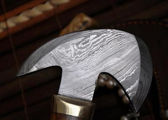 Handmade Damascus Axe — The Man's Man