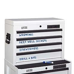 White Dry Erase Tool Storage
