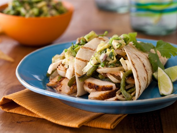 Spice Rubbed Chicken Breast Tacos With Grilled Poblanos Bbq Onions