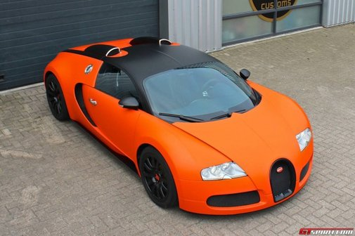 Matte Orange Bugatti
