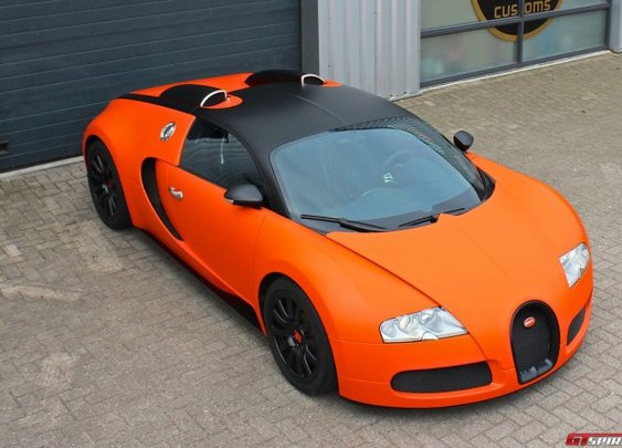 Matte Orange Bugatti