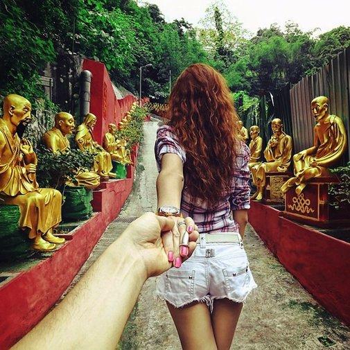 Photographer's Girlfriend Leads Him Around the World -