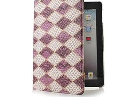 $15.15 Snake skin Pattern Leather Case For iPad2 the New iPad - GeekBuying.com