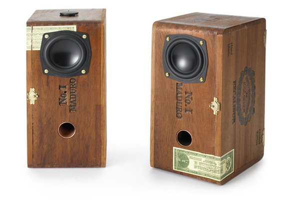 Sweet Cigar Box Speakers — The Man's Man