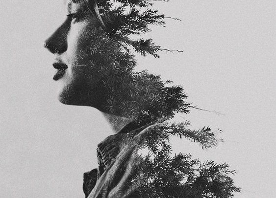 Double Exposure Portraits by Sara K Byrne | Colossal