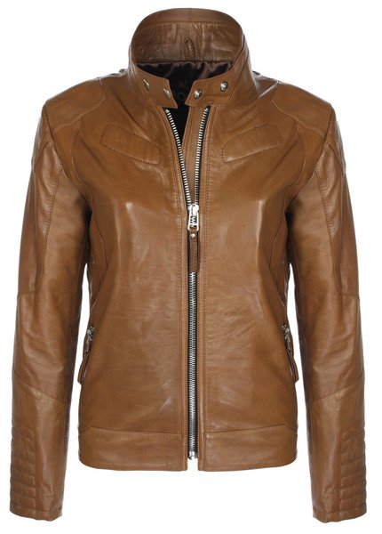 Two Tone Classic Biker (Tan)