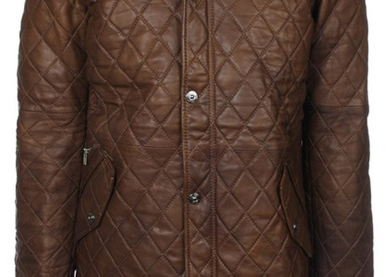 Diamond Quilted Shooting Jacket (WAXED Antique Brown)