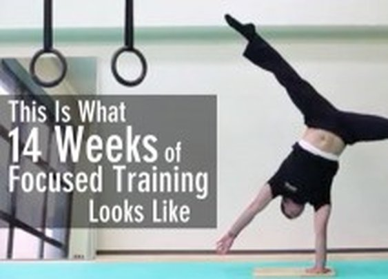 This is What 14 Weeks of Focused Training Looks Like - How I Nailed the One Arm Handstand in Record Time - GMB Fitness Skills