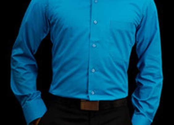 Fresh Men - Turquoise Blue Cotton Shirt:Wrinkle-Free, Best Fit | Fresh Men Wear