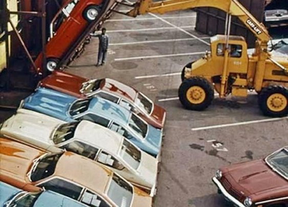 This is how Chevy Vegas were shipped (circa 1971)