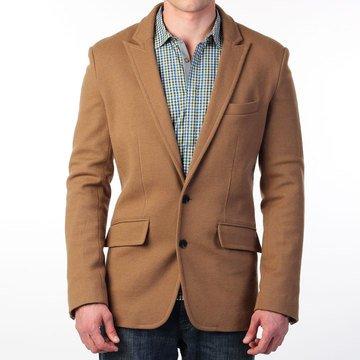 Fab.com | Pear Label Knit Blazer Camel