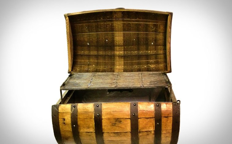 Whiskey Barrel BBQ Pit | Uncrate
