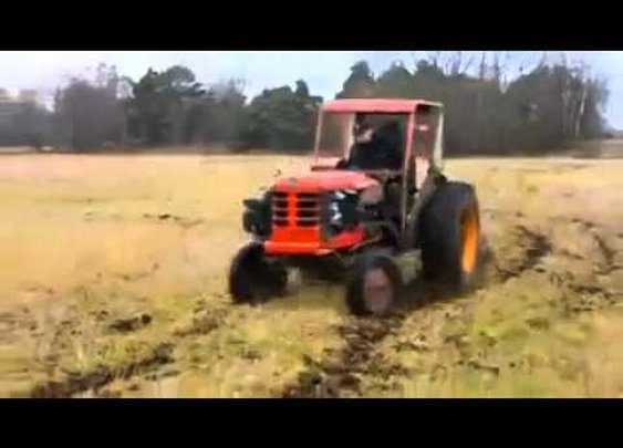 Souped up tractor - YouTube