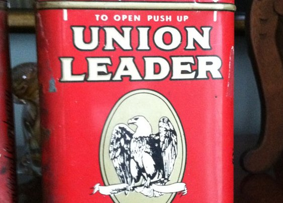 Two Vintage Pre 1950's Union Leader Tobacco Tins by UnisonGeneral