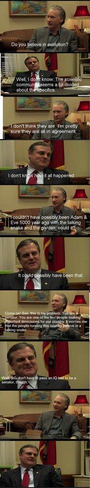 Bill Maher interviews an Arkansas Senator.
