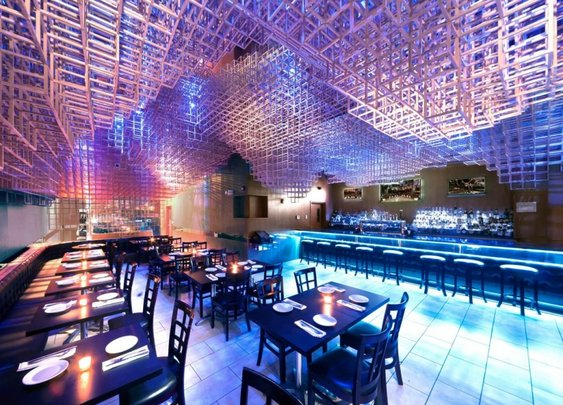 Innuendo Restaurant Ceiling Installation Design by bluarch
