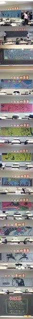 Epic Blackboard Drawing
