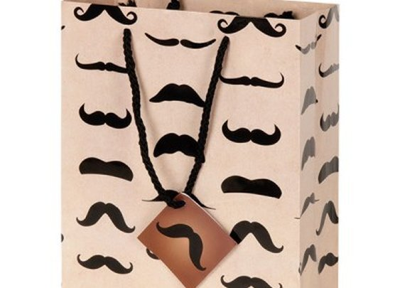 Mustache Gift Bag