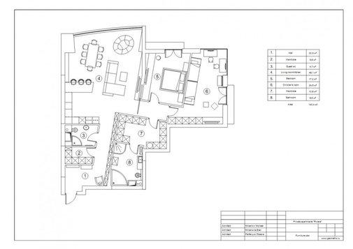 Nice Apartment Interior Design by Geometrix Design