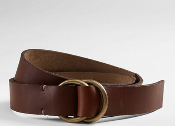 LL Bean Handsewn O-Ring Belt, $79.99