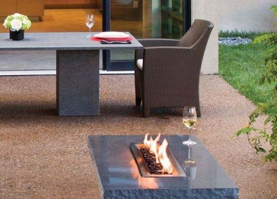 Garden Furniture for Outdoor Rooms, Vesta Fire Table from Stone Forest