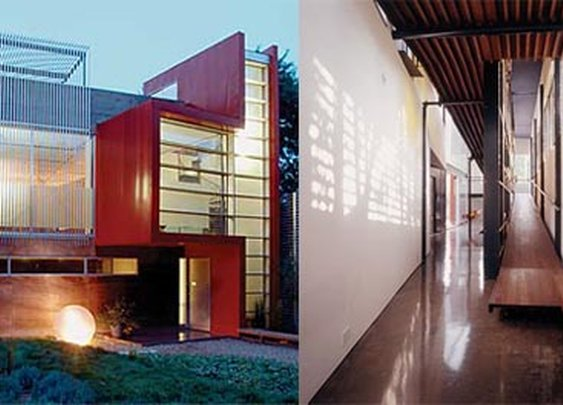 Modern RED Inclination House Designed by MJ Neal Architects