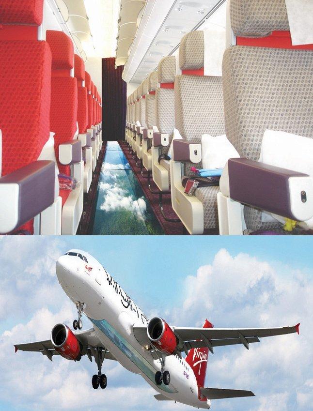 Glass Floored Plane from Virgin Atlantic
