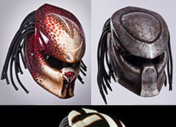 The Predator motorcycle helmet!