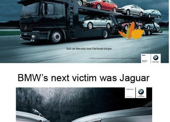 Car advertisement war (Auidi, Mercedes, Subaru, Jaguar, and Bentley)