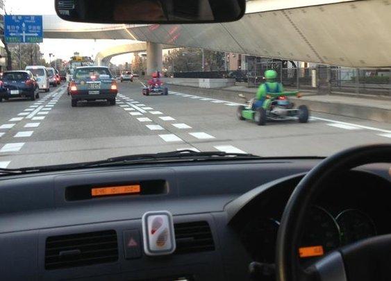 Real life Mario Kart in Japan