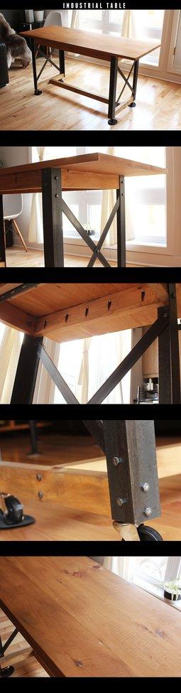 Industrial Table DIY