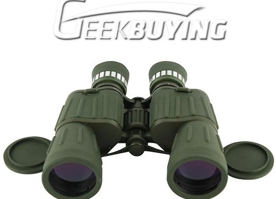 10 x 50 Military Green Coated Telescope Binoculars with Neck Strap & Lens Cloth for Backpacking Hiking Climbing (CG102255) - GeekBuying.com