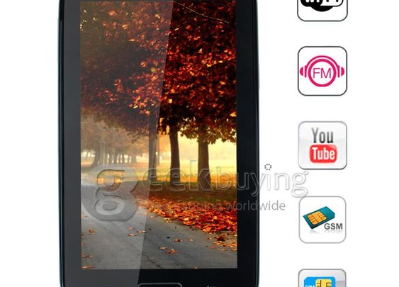 GPhone GT-N7100 5.3inch Resistive Screen Quad Band Dual SIM Cell Phone with WiFi /Analog TV Black - GeekBuying.com