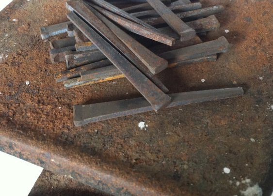 One Quarter Pound of Vintage Square Head Nails by UnisonGeneral
