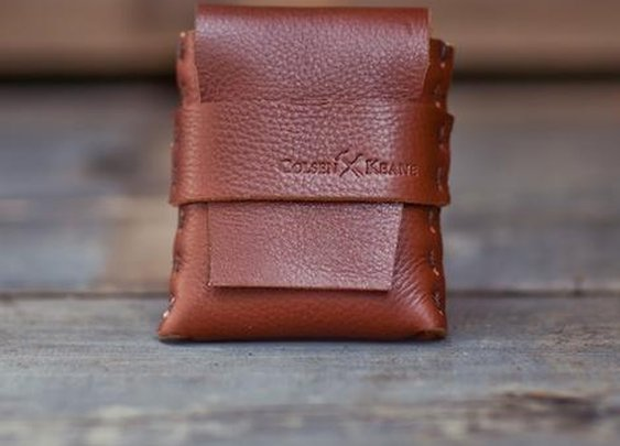 No. 1111 - LIMITED Square Brown MicroWallet :: ColsenKeane.com // Custom Leather Products :: Handmade Leather